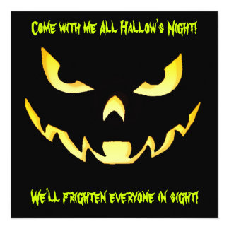 Yellow Monster Scarey Halloween Party Invitation