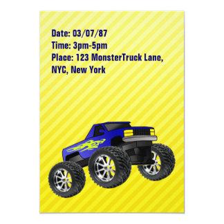 Yellow Monster Truck Invitation