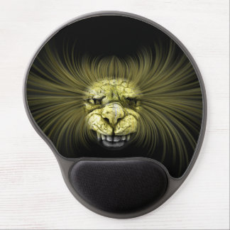 Yellow monster with big teeth gel mouse pad