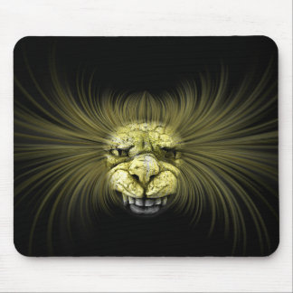 Yellow monster with big teeth mouse pad