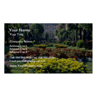 yellow Monte Carlo flowers Business Card Template