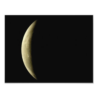 yellow-moon-eclipse 4.25x5.5 paper invitation card