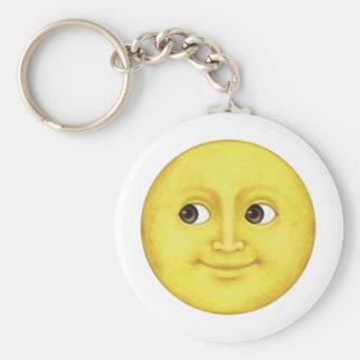 Yellow Moon - Emoji Keychain