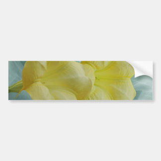 Yellow Moon flower Bumper Stickers