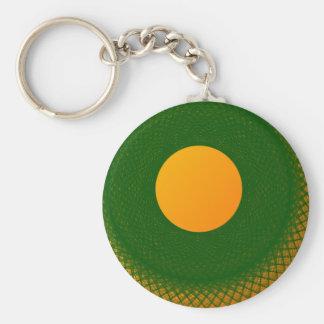 yellow moon in green keychain