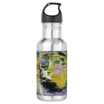 alburtonart Yellow Moon Water Bottle