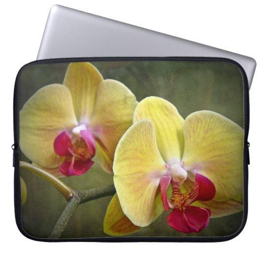Yellow Moth Orchids - Phalaenopsis Computer Sleeve