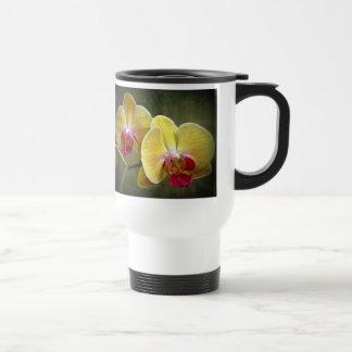 Yellow Moth Orchids - Phalaenopsis Travel Mug