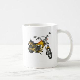 Yellow motorbike coffee mug