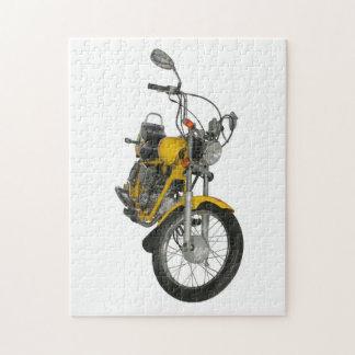 Yellow motorbike jigsaw puzzle