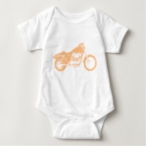 Yellow Motorcycle Baby Bodysuit