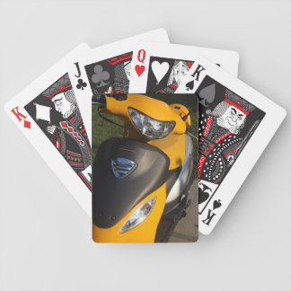 Yellow Motorcycle Bicycle Playing Cards