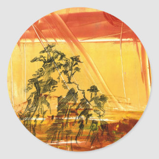 Yellow Mountain of Huang Shan Classic Round Sticker