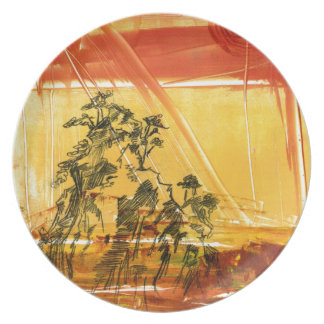Yellow Mountain of Huang Shan Dinner Plate