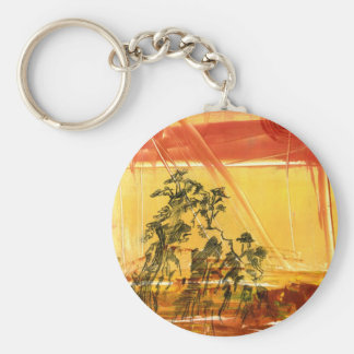 Yellow Mountain of Huang Shan Basic Round Button Keychain