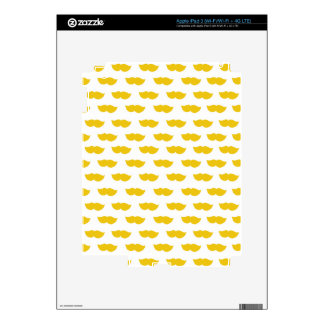 Yellow Moustaches Skin For iPad 3