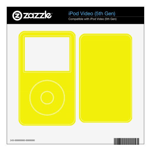 Yellow MP3 Player Skins Skin For The iPod Video