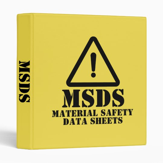 Yellow MSDS Material Safety Data Sheets Binder