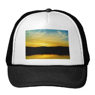 Yellow Mt Lake Sunset Trucker Hat