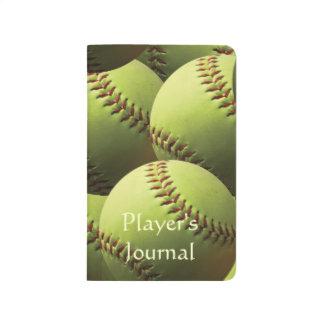 Yellow Multi Softball Pattern Journal