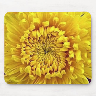 Yellow Mum Flower Center gifts by Sharles Mouse Pad