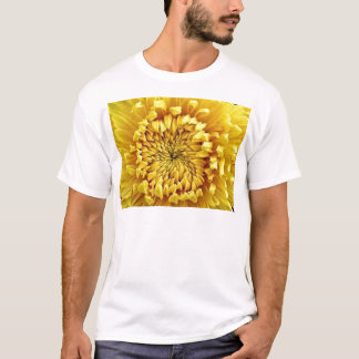 Yellow Mum Flower Center gifts by Sharles T-Shirt