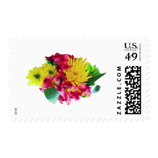 Yellow Mums and Pink Asiatic Lilies Postage