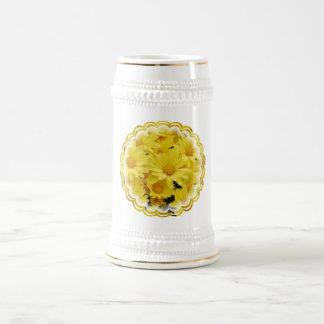 Yellow Mums Beer Mug
