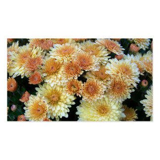 Yellow Mums Double-Sided Standard Business Cards (Pack Of 100)