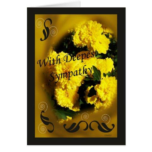 Yellow Mums Card