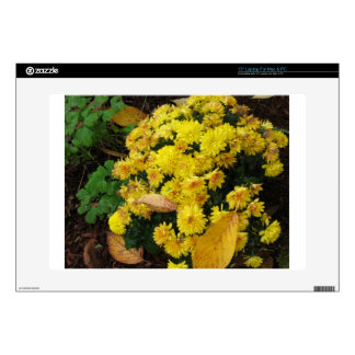 Yellow Mums in Fall - Photograph Laptop Skins