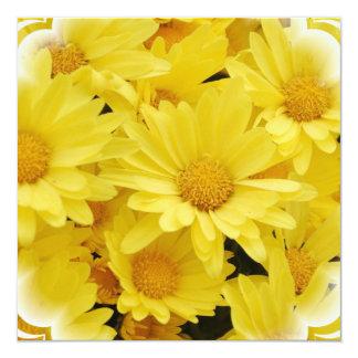 Yellow Mums Invitation
