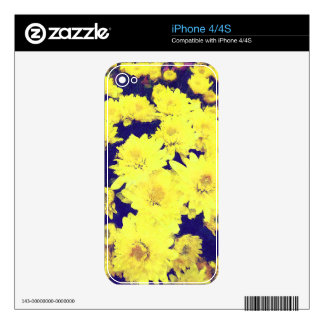 YELLOW MUMS iPhone Skin iPhone 4 Decal