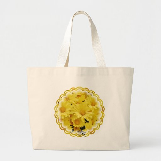 Yellow Mums Jumbo Tote Bag