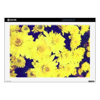 YELLOW MUMS Laptop Skin