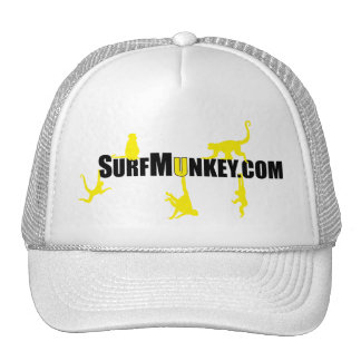 Yellow munkeys in the Hanging Munkeys design Trucker Hat