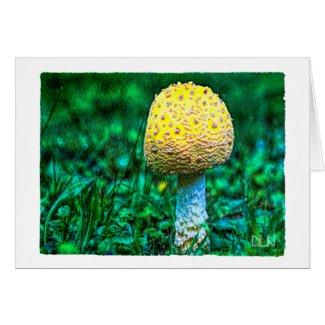 Yellow Mushroom/Nature/Watercolor Look