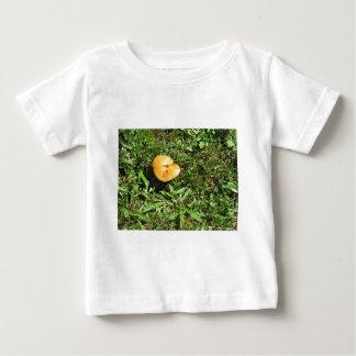Yellow mushroom on a green meadow tshirt