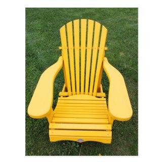 Yellow Muskoka / Adirondack Chair Postcard