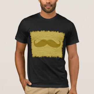 Yellow Mustache on leopard skin T-Shirt