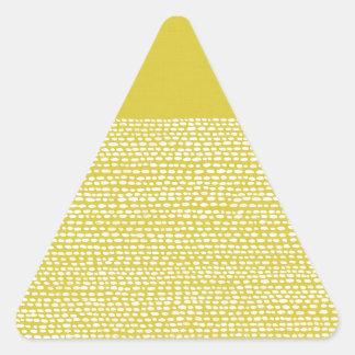 Yellow Mustard and White Dot Pattern Triangle Stickers