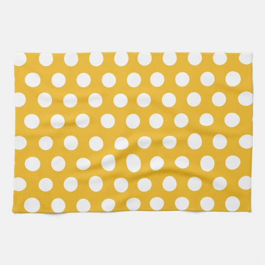 Yellow Mustard Color Polka Dots Pattern Design Kitchen Towel on kitchen towels with words, bathrobe patterns, kitchen curtain patterns, kitchen towels with button, kitchen hand towels that hang, embroidered towels patterns, kitchen towels with birds, kitchen table patterns, kitchen window patterns, kitchen accessories patterns, kitchen towels for oven, mirror patterns,