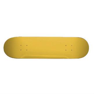 Yellow mustard skateboard deck