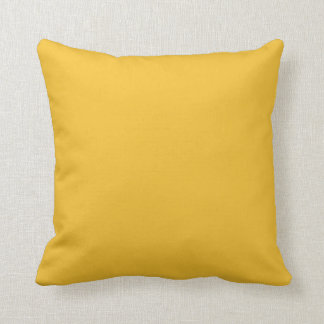Yellow mustard throw pillow