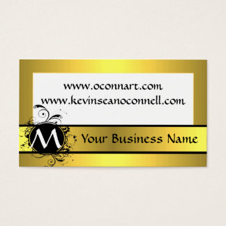 Yellow mustard with monogram business card