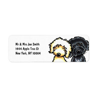 Yellow n Black Labradoodle Label