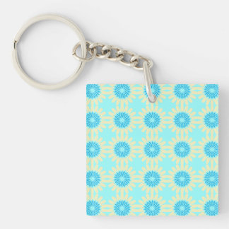 Yellow-n-Blue Flowers Keychain