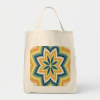 Yellow n Green Geometric Reusable Grocery Tote