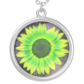 Yellow N Green Sunflower Necklace