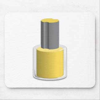 Yellow Nail Polish Mousepad
